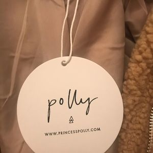 Jackets & Blazers - S/M Teddy coat (beige) from Princess Polly